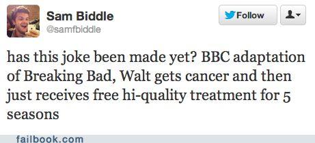 BBC Breaking Bad.I M Funny, Bbc Adaptations, Funny Bones, Bbc Breaking, Breaking Bad