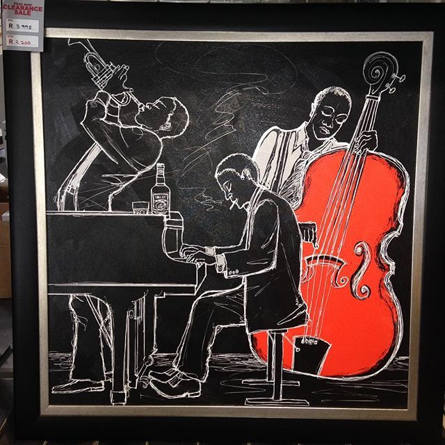#sale #print #art #red #spotcolor #jazz #framing