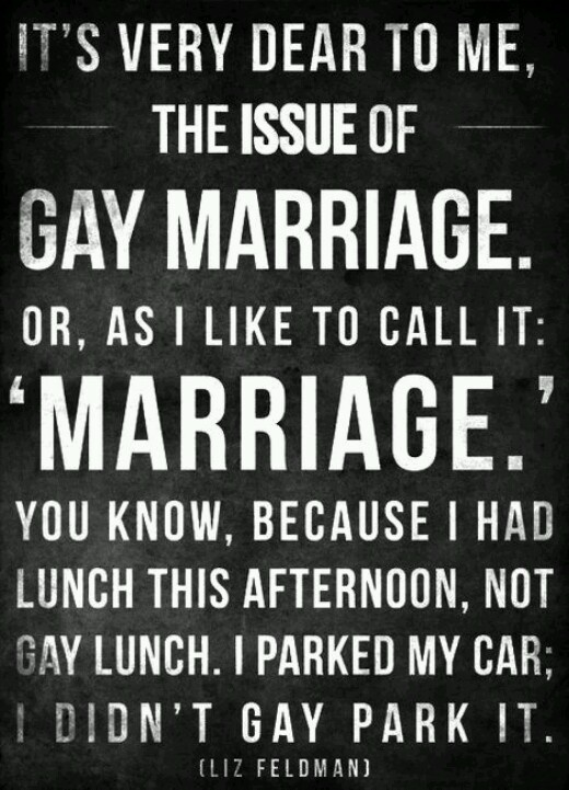 For gay marriage gay right