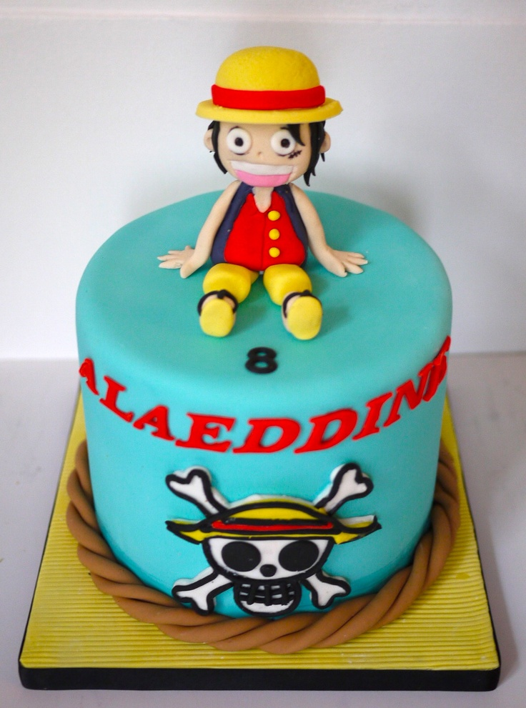 Luffy One Piece Cake Gateaux Pinterest Cakes One