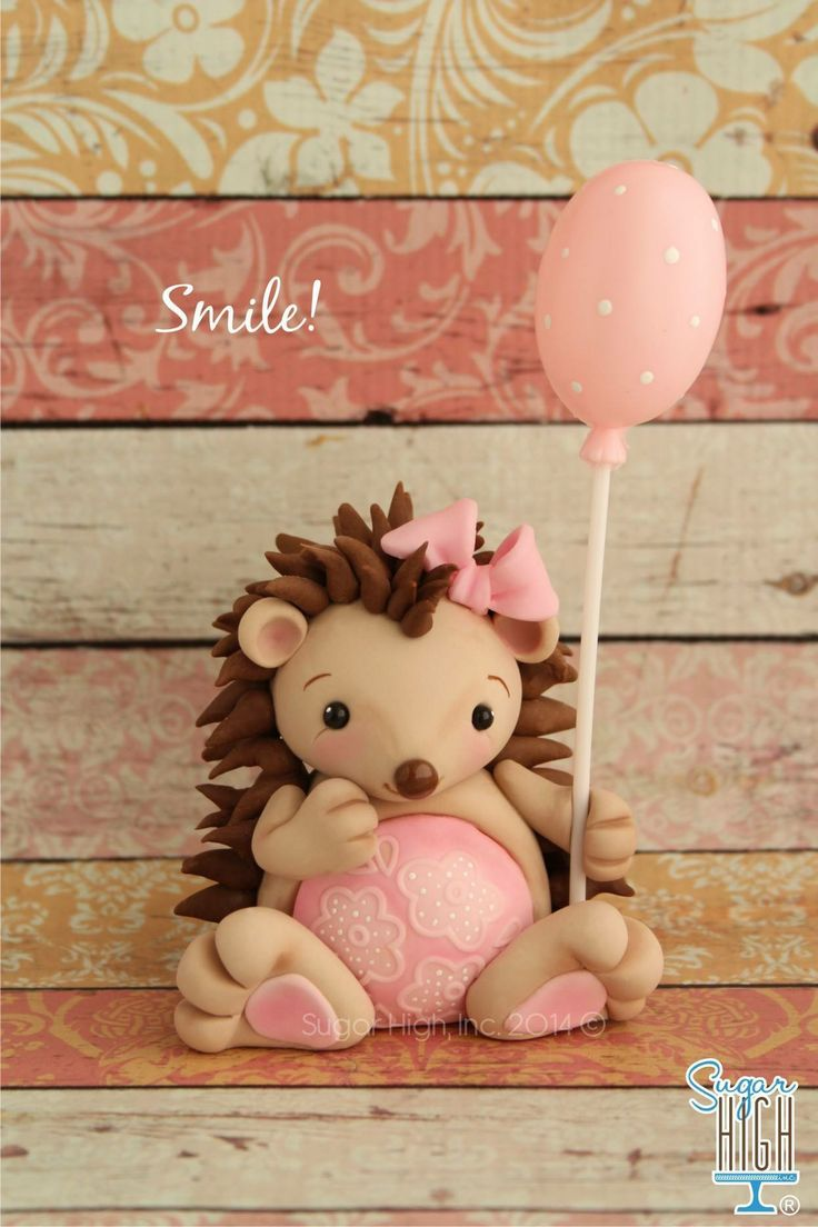 Baby Hedgehog Birthday Cake by Sugar High