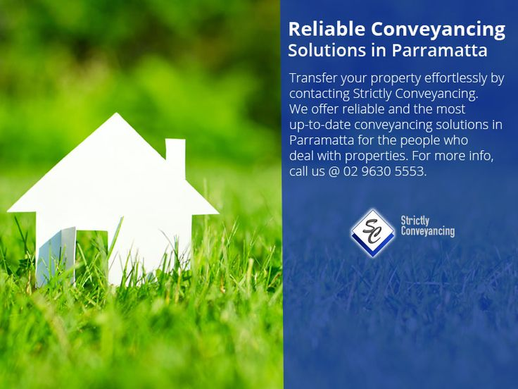 Reliable Conveyancing Solutions in Parramatta - Transfer your property effortlessly by contacting Strictly Conveyancing. We offer reliable and the most up-to-date conveyancing solutions in Parramatta for the people who deal with properties. For more info, call us @ 02 9630 5553.