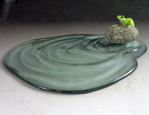 Dollhouse Miniature Fairy Garden Frog Water Pond Indoors or Outdoors | eBay