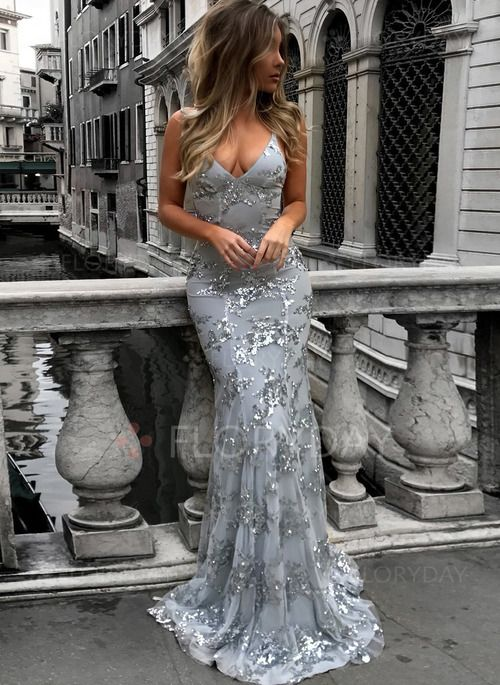 Dress -  44.99 - Solid Sequins Slip Halter Neckline A-line Dress  (1955268197) ef9789d6a