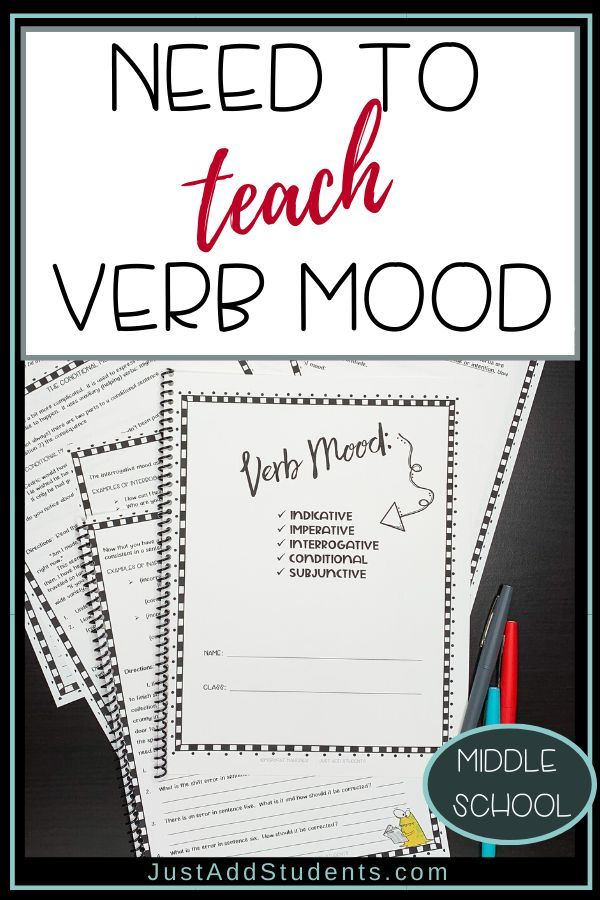 Verb Moods Practice Worksheets Teaching Verbs Teaching Teaching Critical Thinking