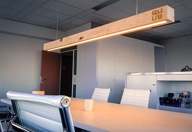 Balklamp houten hanglamp lamp boven tafel LED