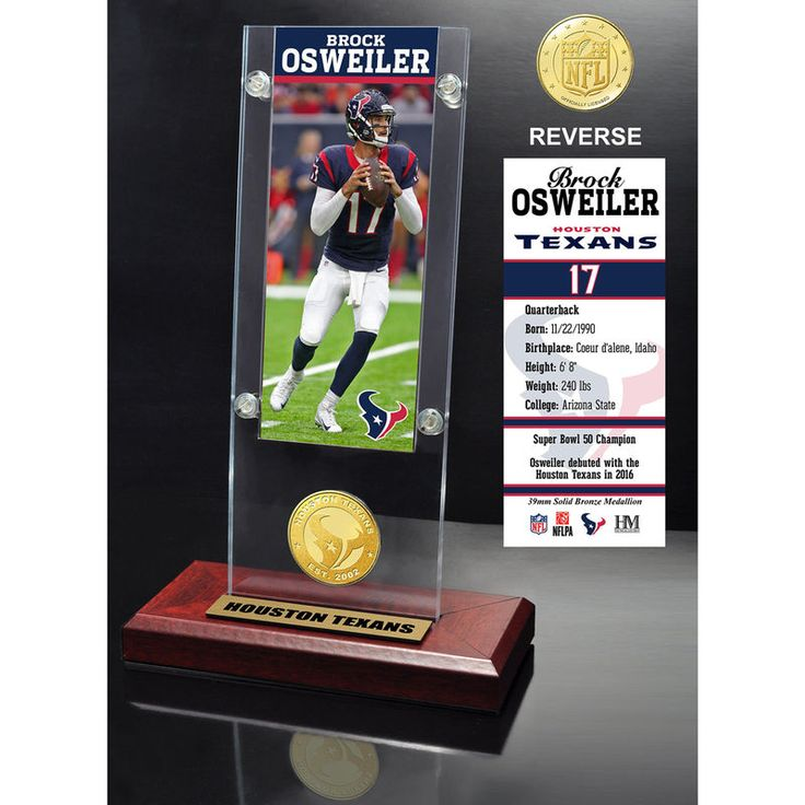 "Brock Osweiler Houston Texans Highland Mint 9.5"" x 3.5"" Player Ticket Acrylic"