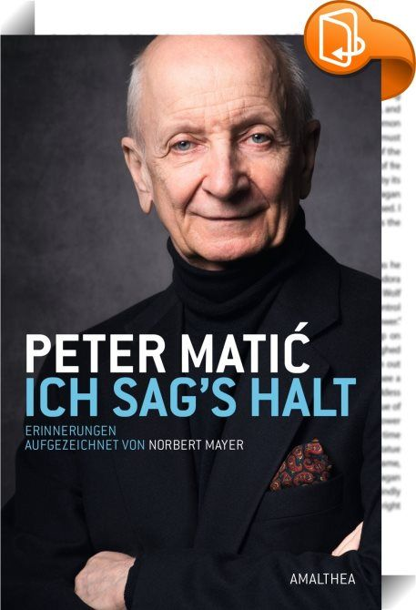 Ich sag's halt    :  Das Burgtheater, die Josefstadt und das Schiller Theater in Berlin sind seine Heimat. Peter Matić hat in sechs Jahrzehnten Hunderte Rollen gespielt. Unverwechselbar ist seine Stimme, die er als Synchronsprecher vor allem Hollywood-Star Ben Kingsley leiht. Literaturfreunde schätzen seine Hörbücher, darunter die Gesamtaufnahme von Marcel Prousts »Auf der Suche nach der verlorenen Zeit«. Matić macht sie zum Erlebnis. Der Nachkomme einer k. u. k. Offiziersfamilie ist e...