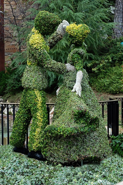 Disney Topiary Cinderella and Prince Charming