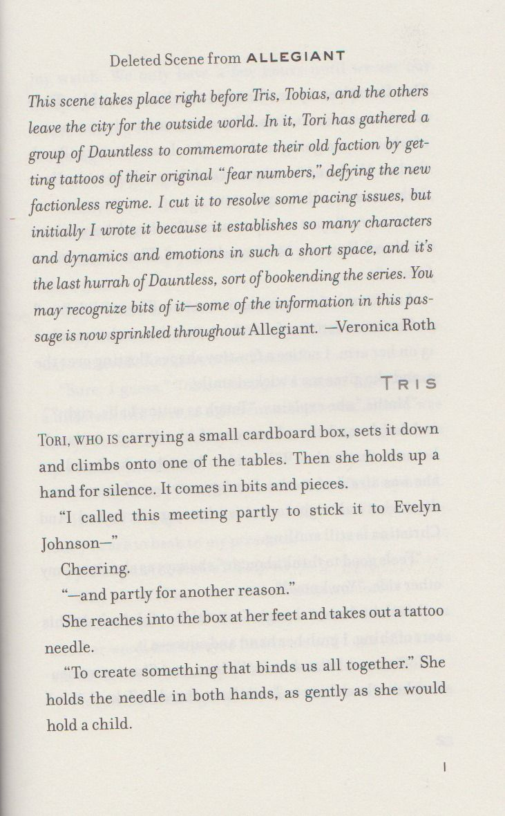 This Is A Deleted Scene From Allegiant It's Not Going To Be In The Movie  I Wish It Was The Divergent