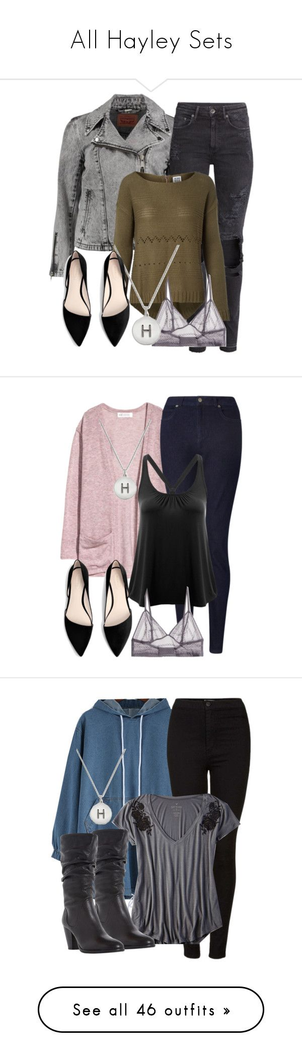 """""""All Hayley Sets"""" by fangsandfashion ❤ liked on Polyvore featuring Levi's, H&M, Vero Moda, Calvin Klein, Kate Spade, MANGO, John Lewis, Topshop, American Eagle Outfitters and Dune"""