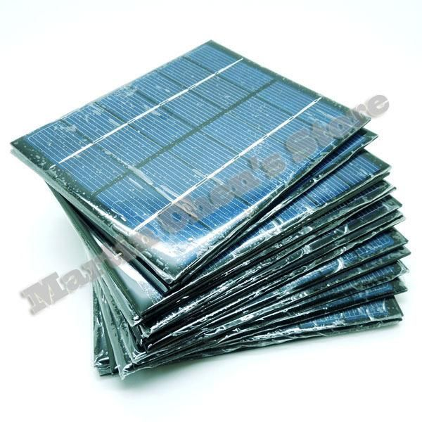 10pcs/lot 6V 330mA 2W mini solar panels small solar power 3.6v battery charge solar led light solar cell drop shipping-10001027