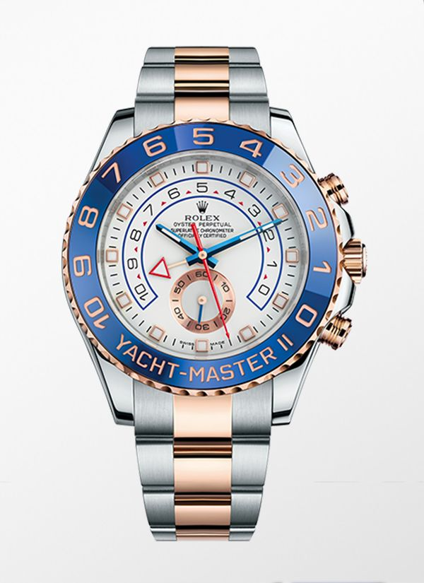 'The Rolex Oyster Perpetual Yacht-Master II Rolesor, combines the strength of 904L stainless steel with the nobility of 18ct Everose gold.
