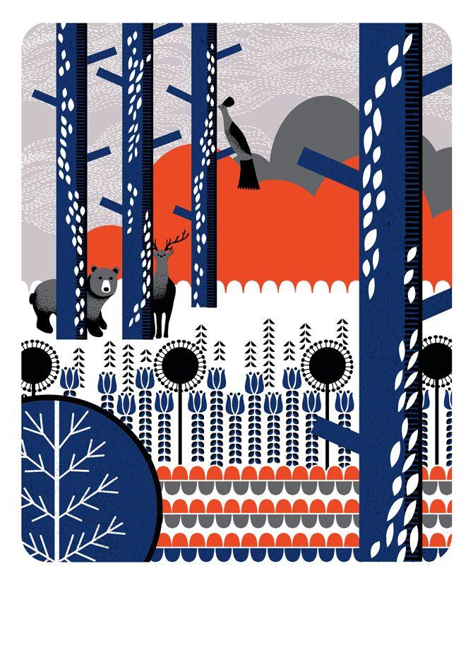 Nadia Taylor print: Prints Pattern, Nadia Taylors, Screens Prints, Limited Editing, Colors Combinations, Bears Watches, Illustration Art, Editing Screens, Design
