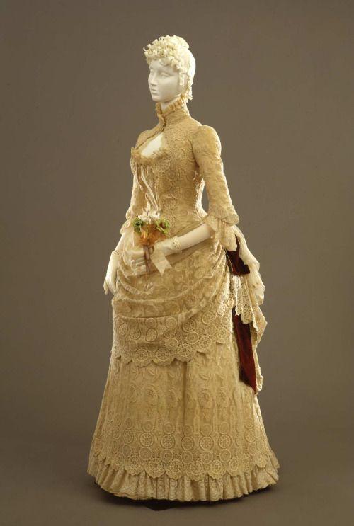 Dress ca. 1884From the Galleria del Costume di Palazzo Pitti via...