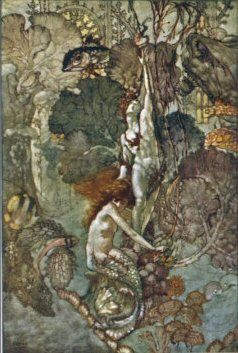 The Little Mermaid Hugs the Statue of the Prince Giclee . A. Duncan Carse (1876-1938) was an artist working in Britain, of Norwegian/Scottish parents. He illustrated the Hans Christian Andersen Fairytales and the Lucy M. Scott Dewdrops from Fairyland.