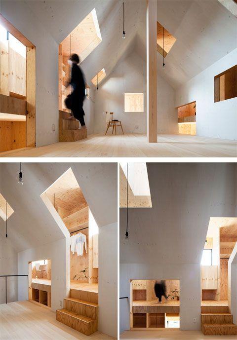 Japanische Architektur mit warmem Minimalismus