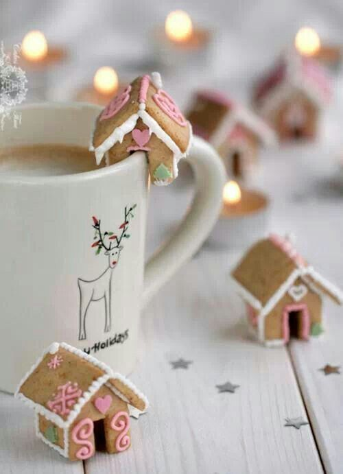 Christmas treat ♡ Cute, but looks labor intensive.