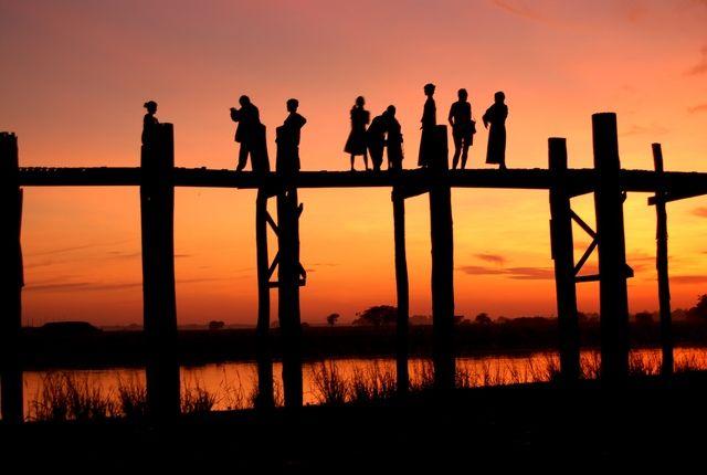 U Bein Bridge, Amarapura, Myanmar (Burma)