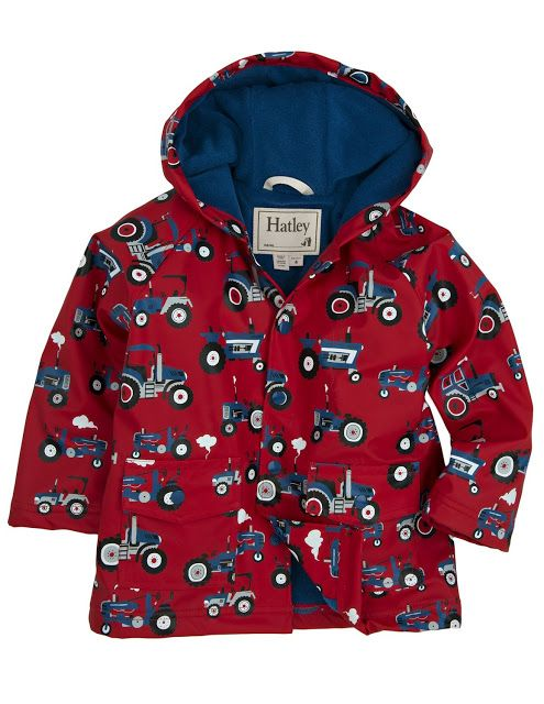 The Hatley Boys' Classic Printed Raincoat is a quality raincoat that is so CUTE with a soft terry cloth lining which is designed to keep your child warm and dry when he is out in the elements.