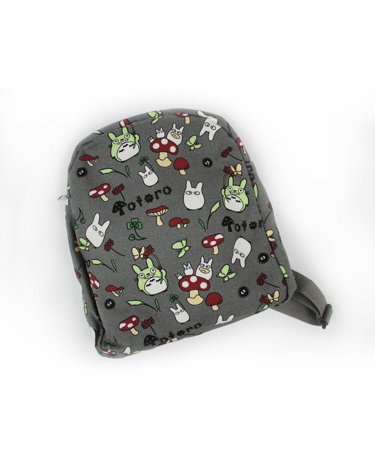 Mochila Totoro Estampado 26€    pikapikashop.com #totoro #mochila #myneighbortotoro #kawaii #love #cute #pikapikashop #barcelona