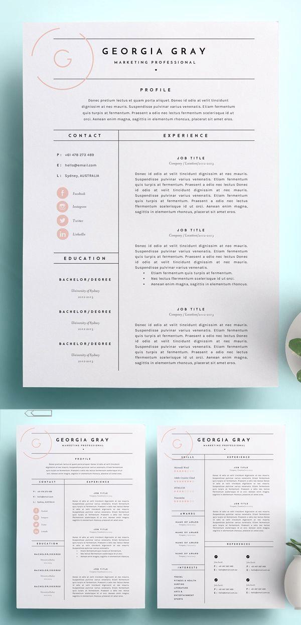 26 Simple Cv Design For Men Fun Graphic Design Resume Resume Design Creative Graphic Resume