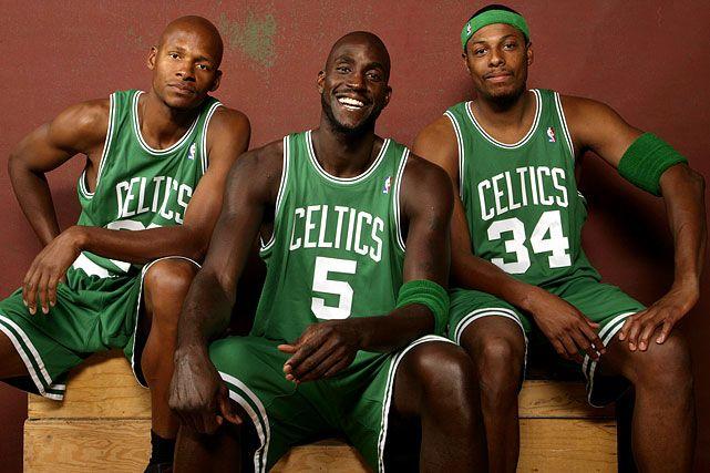Ray Allen, Kevin Garnett, and Paul Pierce, Boston Celtics
