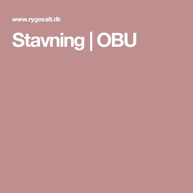 Stavning | OBU