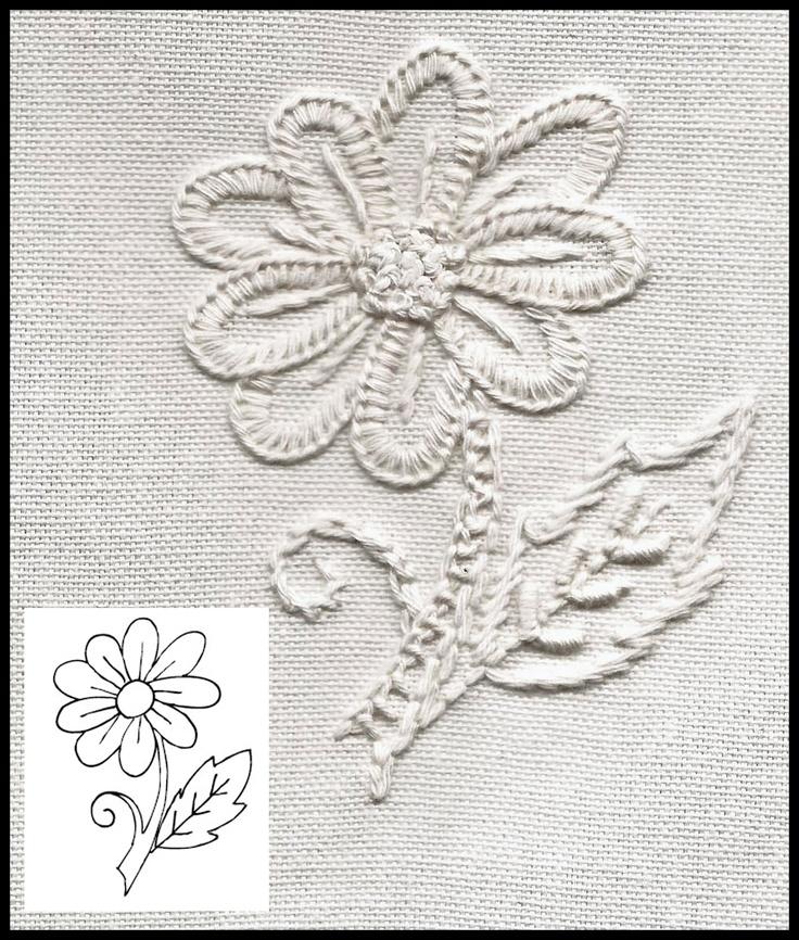"Free design Blackwork Journey Mountmellick flower ""Techniques"""