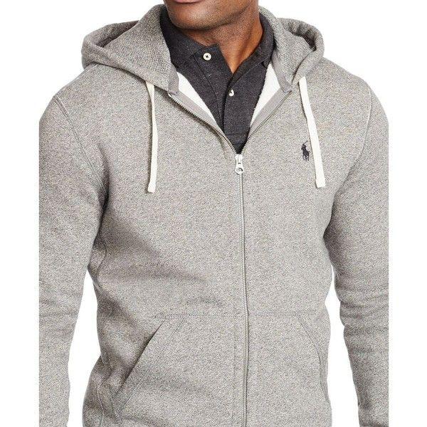 Polo Ralph Lauren Men's Hoodie, Core Full Zip Hooded Fleece ($98) ❤ liked on Polyvore featuring men's fashion, men's clothing, men's hoodies, heather grey, mens full zip hoodies, mens sweatshirts and hoodies, mens fleece hoodie, mens full zip hoodie and mens hooded sweatshirts