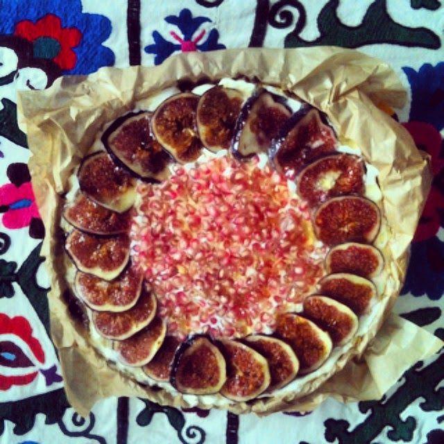 Tarta z cytrynową ricottą i figami