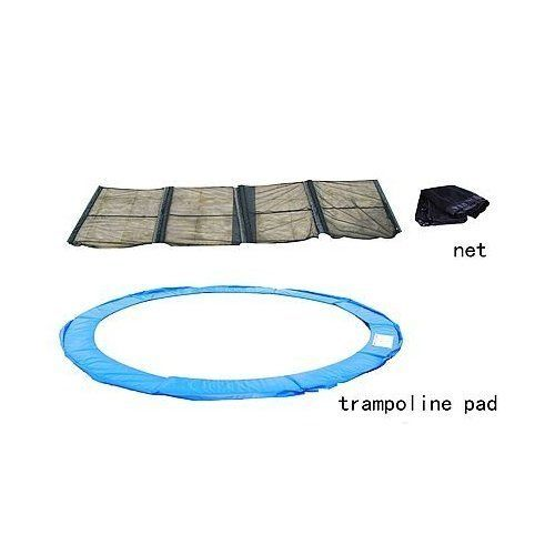 Aosom 14' Ft Trampoline Safety Pad w/ Enclosure Net Combo by Aosom. $79.97. Aosom 14' Trampoline Pad And Safety Net Combo    You are looking for a 14ft trampoline pad and net combo. If your pad and net has been in torn or ruptured condition, substitute this brand new combo of Pad for the old one! It is able to give the maximum protection to kids, teens or adults from bouncing out of the mat and being scratched by the spring hooks when they are enjoying the tra...