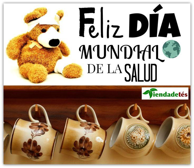 ¡¡Feliz Día Mundial de la Salud!! ¡¡En www.tiendadetes.com tenéis el mejor té y la mayor variedad para mejorarla!! #DiaMundialdelaSalud #Té #TeaTime #Salud #Relax #Infusiones