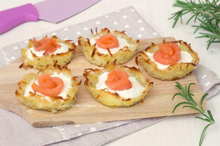 cestini di patate e salmone