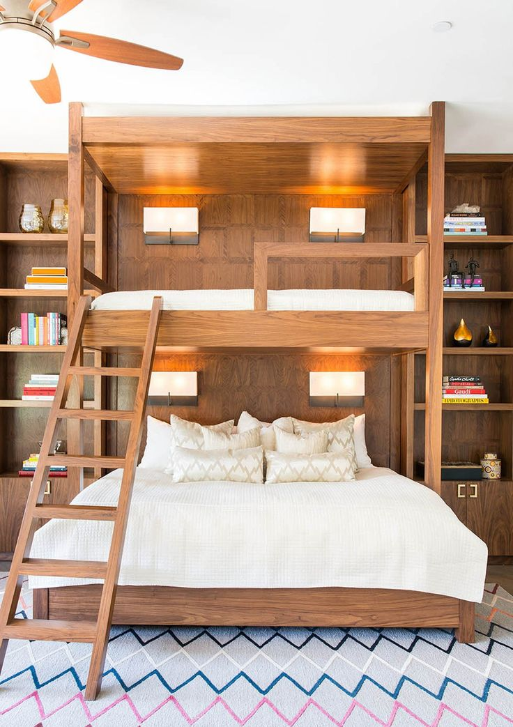 Why Adult Bunk Beds Are a Design Do: Studio Lifestyle transforms a basic bedroom into a fun guest room with one seriously unexpected detail