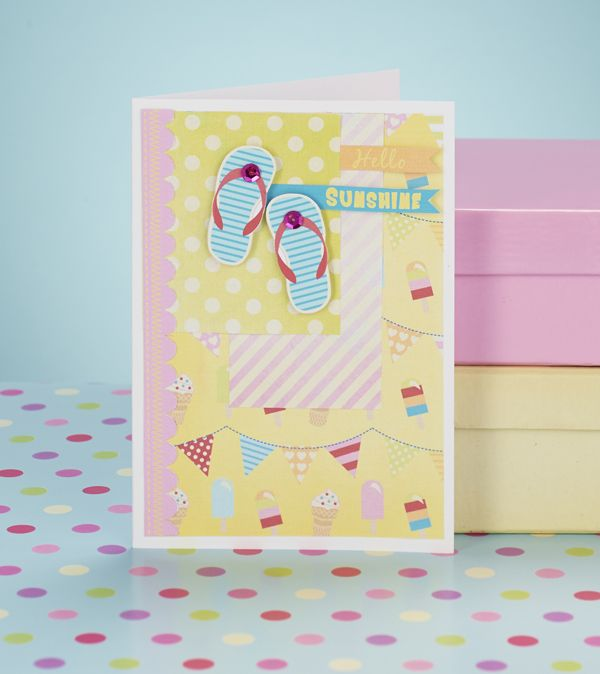 Free Card Making Printables Part - 35: Free Summer Beach Craft Printables For Card Making, From Papercraft  Inspirations Issue 128. Love Those Flip-flops!   Card Making Inspiration    Pinterest ...