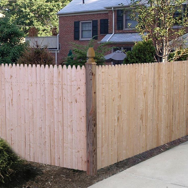 3.5 ft. H x 8 ft. W Natural 4 in. Gothic Stockade Fence ...