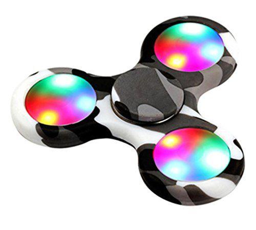LED Light Fidget Hand Spinner Torqbar Finger Toy EDC Focus Gyro Fast Shipping (LED Light Z(Multicolor A))