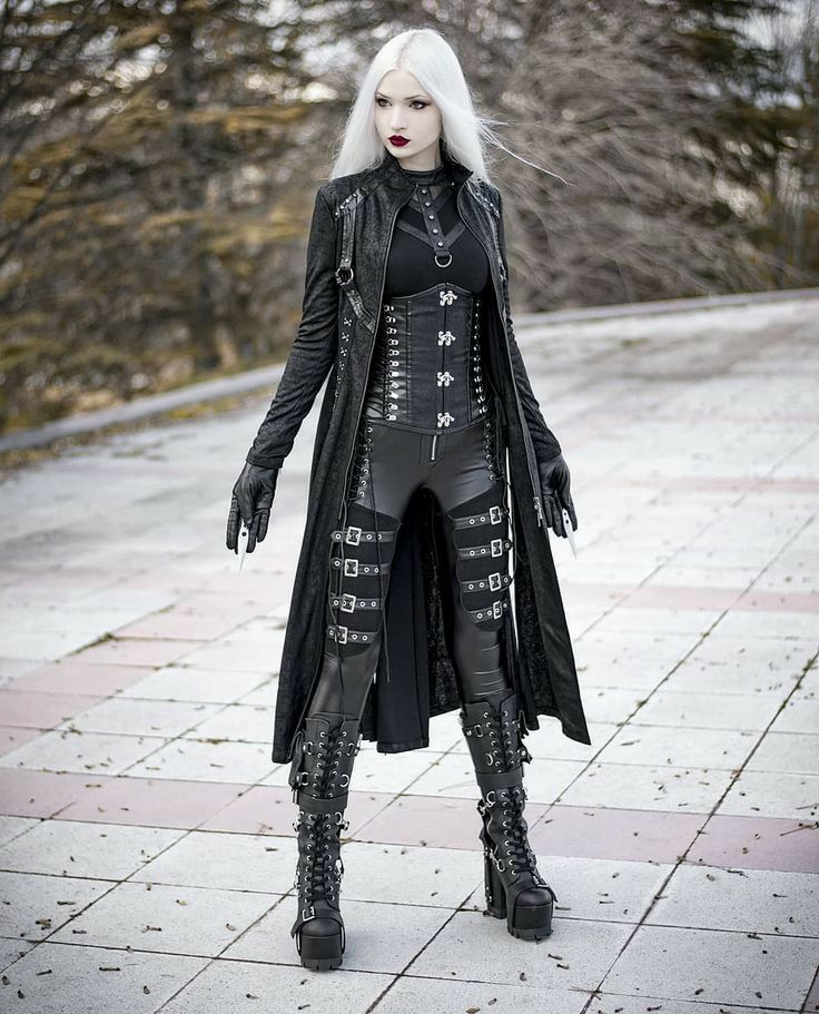 Pin By Nemain Macha On Anydeath Anastasia Model In 2020 Goth Outfits Blonde Goth Gothic Outfits