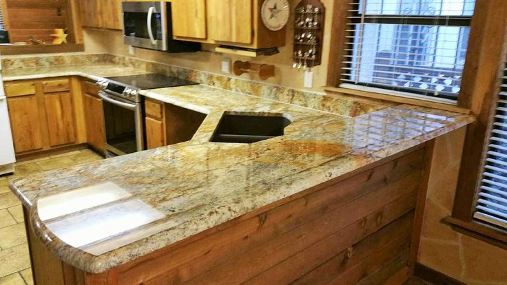 Geriba Gold Granite Counter Tops Kitchen Remodel Home