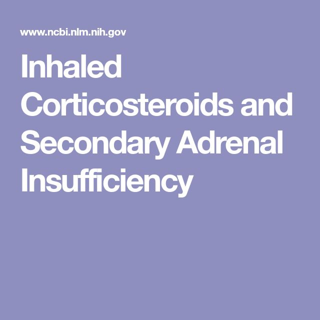 Inhaled Corticosteroids and Secondary Adrenal Insufficiency