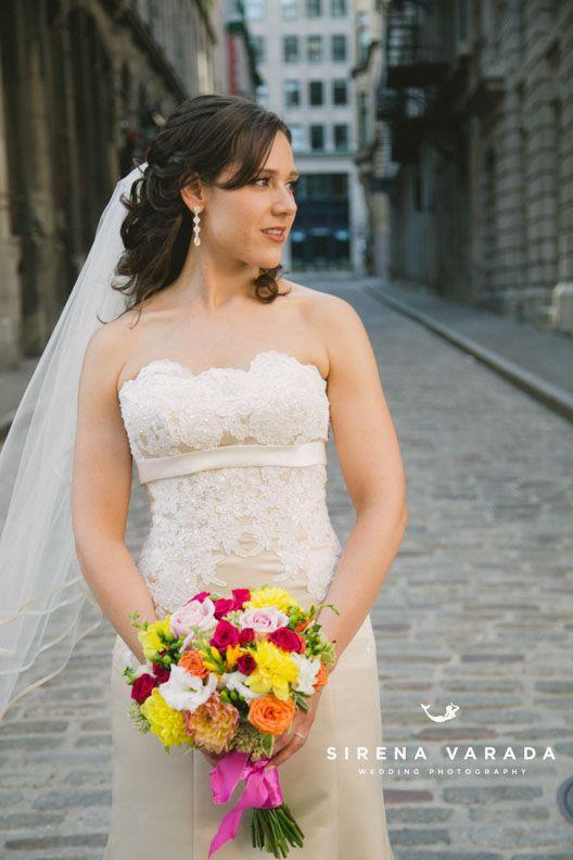 Bride at Old Port Montreal by Sirena Varada Montreal Wedding Photography