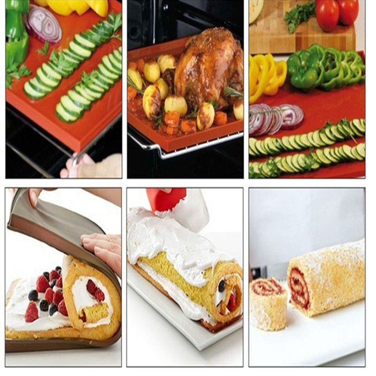 desear 36*28cm Non-Stick Silicone Multifunction Oven Mat Baking Cake Pad Swiss Roll Pad Bakeware Baking Tools