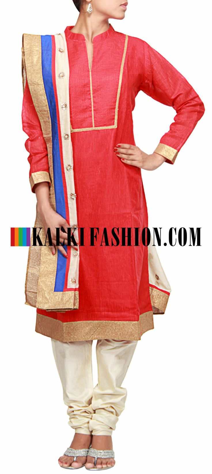 Buy Online from the link below. We ship worldwide (Free Shipping over US$100)  http://www.kalkifashion.com/maroon-straight-fit-suit-enhanced-in-thread-work-only-on-kalki.html