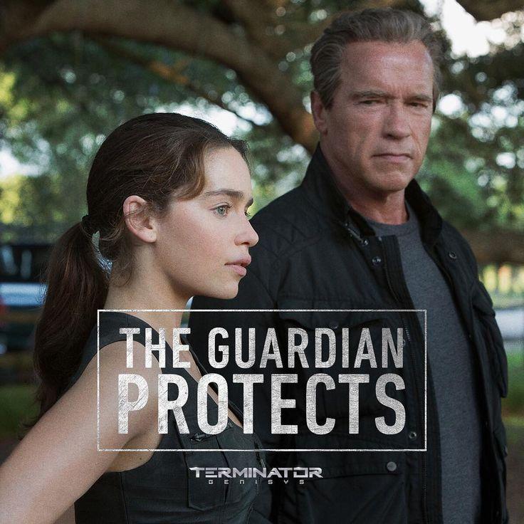He lives to protect. #TerminatorGenisys #ArnieFans #ArnoldSchwarzenegger #ArnoldIsBack #HeIsBack #HollywoodHits  #SarahConnor #EmiliaClarke