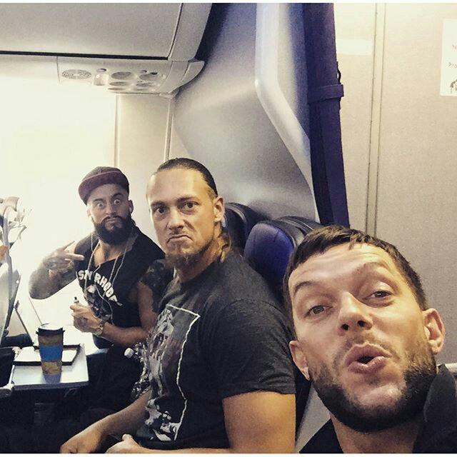 Enzo Amore, Colin Cassady and Finn Bálor.