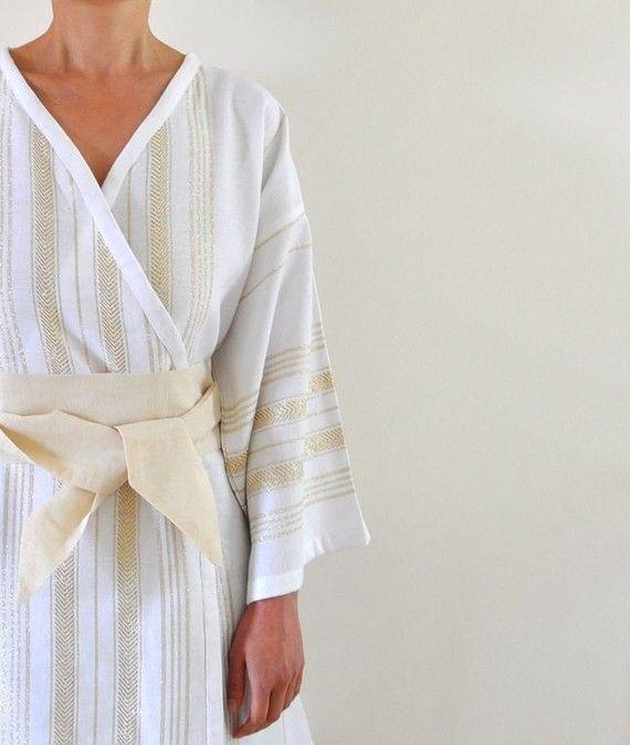 Kimono Robe türkisches Bad Handtuch Pestemal von ecofriendlybeauty