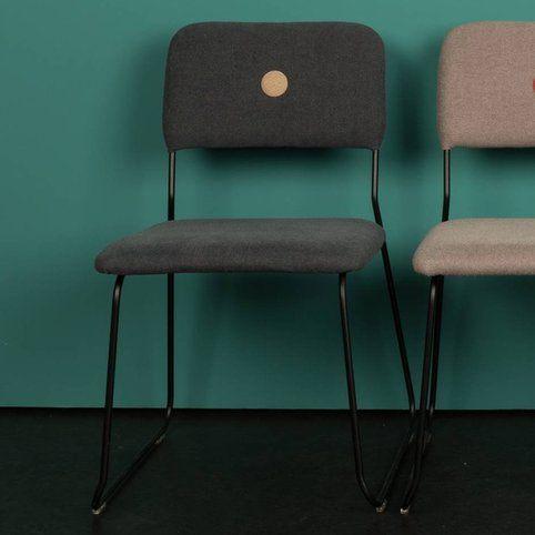 Lot de 2 chaises empilables FELINE ZUIVER - Gris anthracite- Vue 1