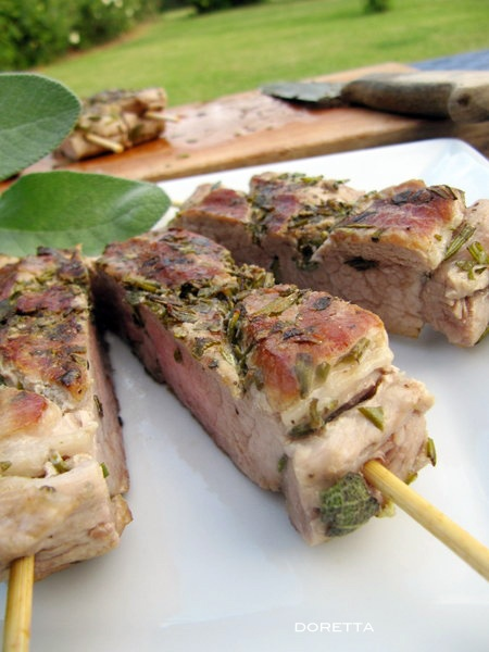 filetto di maiale agli aromi ...una ricettino x il barbecue FAVOLOSA!