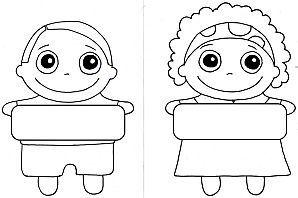 Etiquettes garçon et fille.